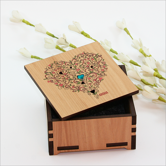Small Trinket Box : Aroha - Kiwi Collections