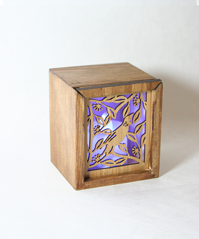 LED TEALIGHT BOX : Tui - Kiwi Collections