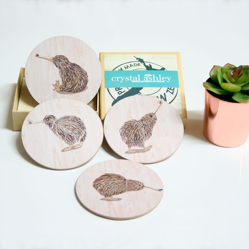 Coasters : Kiwis set - Kiwi Collections