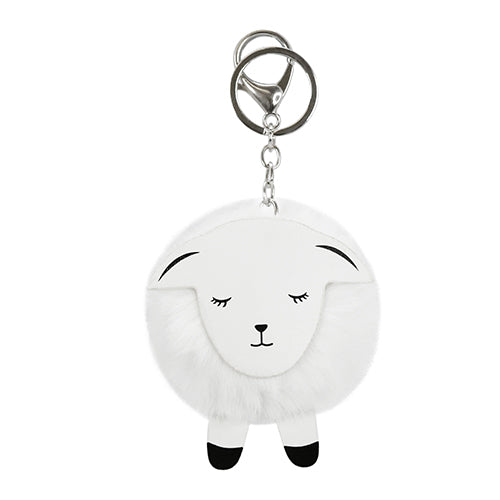 KEY RING PomPom Sheep