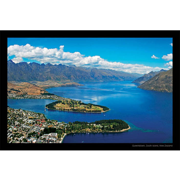 Unique/Thick postcard : Scenic - Queenstown - Kiwi Collections
