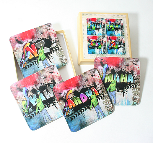Coasters : Grafiti Print - Kiwi Collections
