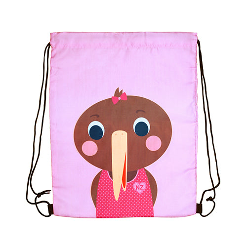 Drawstring Bag Kiwi Tots Girl - Kiwi Collections