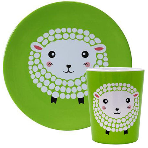 Tots Sheep / 4 Platse & 4 Cups Set