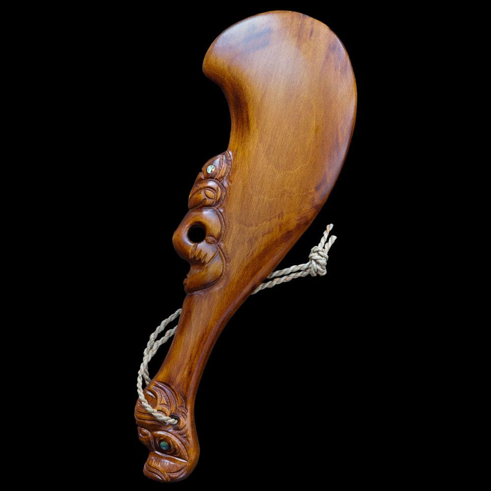 Carved Wahaika War Club - Kiwi Collections