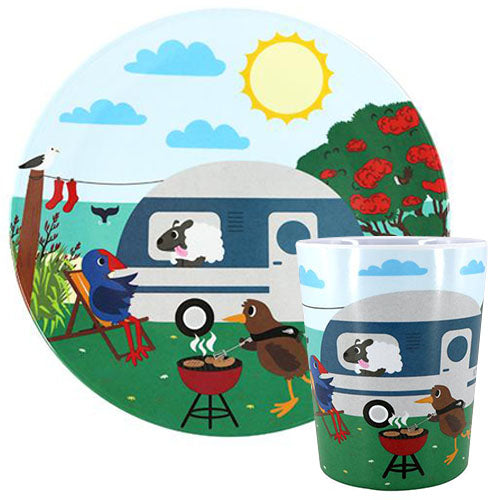 Going Places Summer / Plate & Cup Set