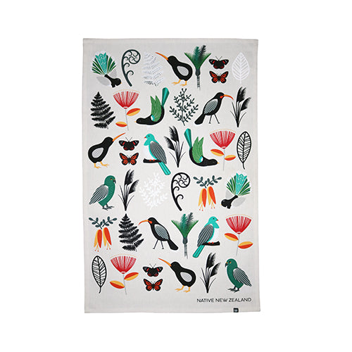 Tea Towel Native NZ - Kiwi Collections