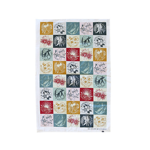 Tea Towel NZ Flora - Kiwi Collections
