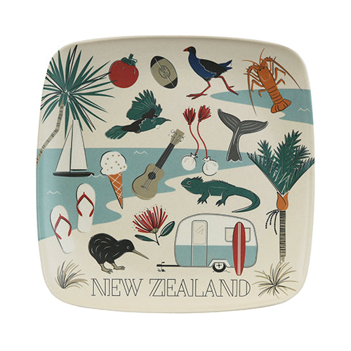 Bamboo Plate Kiwi Tour - Kiwi Collections
