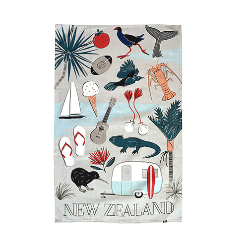 Tea Towel Kiwi Tour - Kiwi Collections