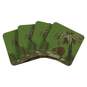 Coaster Set Bush Kiwi - Kiwi Collections