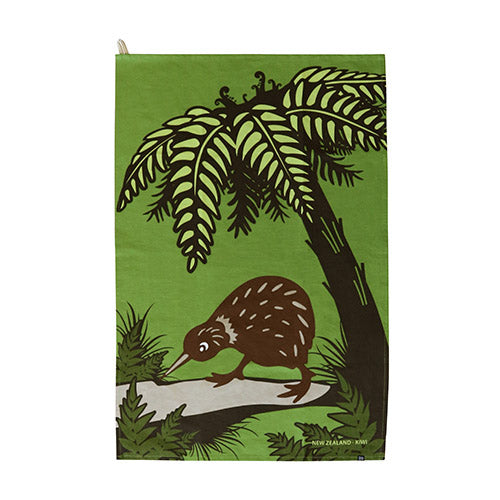 Tea Towel Bush Kiwi - Kiwi Collections