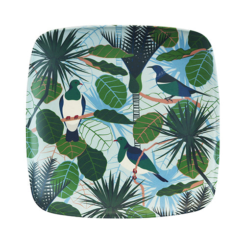 Bamboo Plate Bird Song - Kiwi Collections