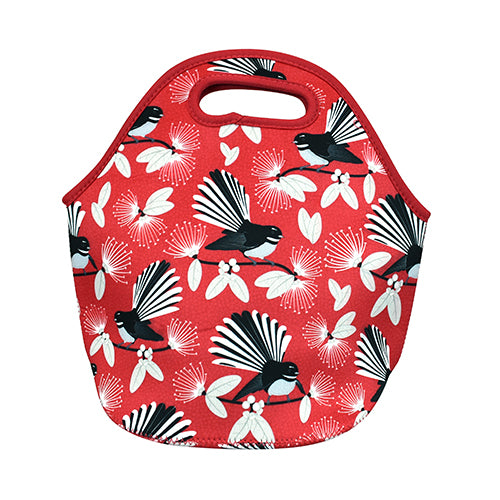 Carry-All Bag Flirting Fantails Red - Kiwi Collections