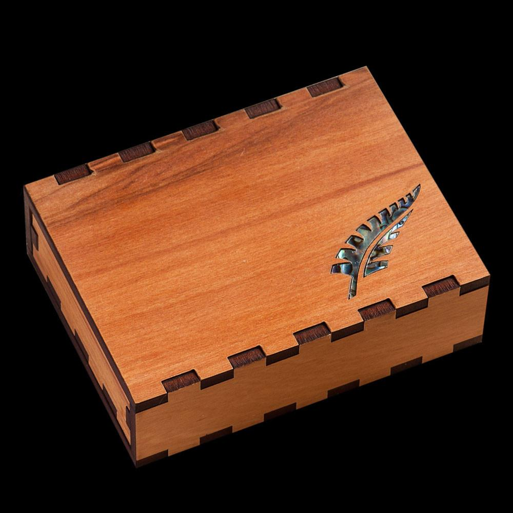 Paua Fern Leaf Gift Box - Kiwi Collections
