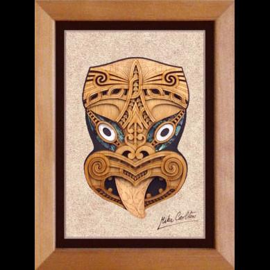 Framed 3D Wooden Weku - Kiwi Collections