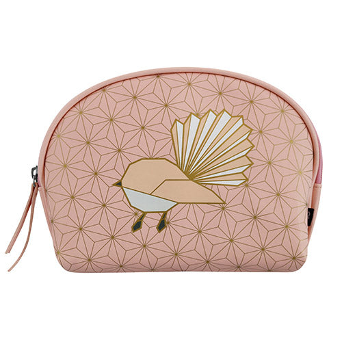 Cosmetic Bag Geo Fantail - Kiwi Collections