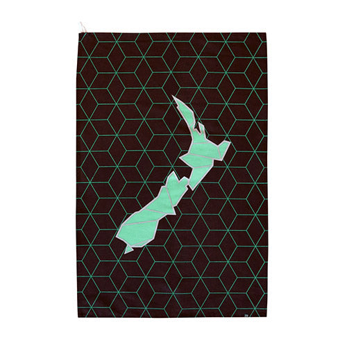 Tea Towel Geo Map - Kiwi Collections