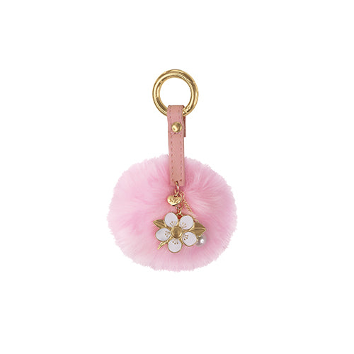 Key Ring PomPom Manuka Flower - Kiwi Collections
