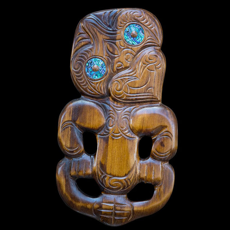 Large Carved Tiki Wall Hanging - Kiwi Collections