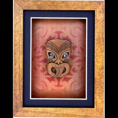 Small Framed Wheku Carving - Kiwi Collections