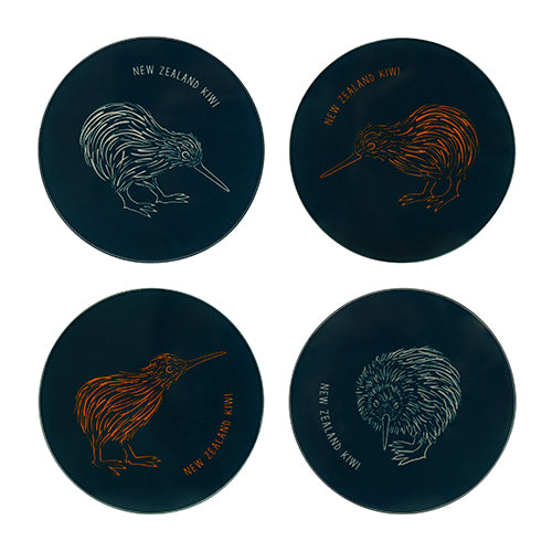 Coaster Set Kiwi Canvas Mixed