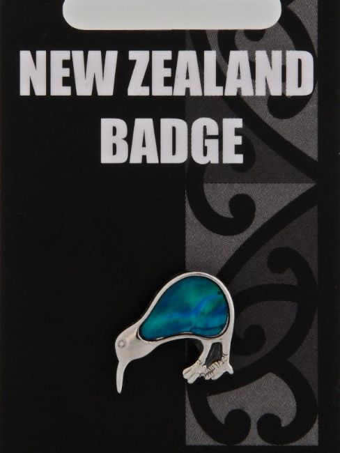 Blue Paua Kiwi Badge - Kiwi Collections