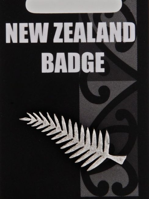 Silver Fern Badge - Kiwi Collections