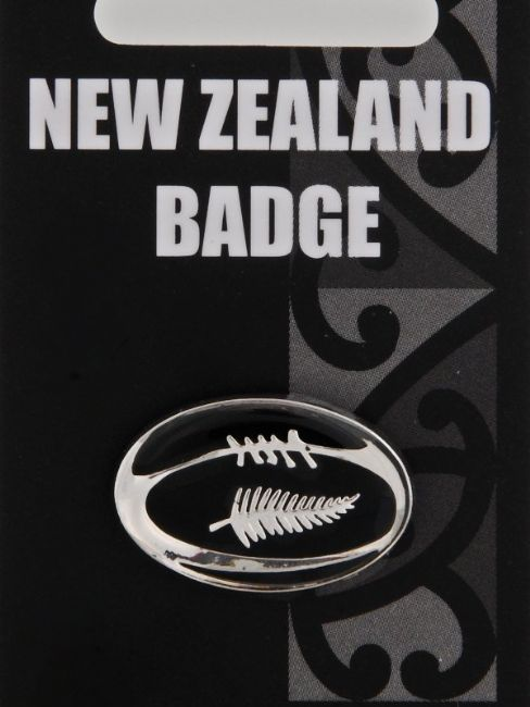 Rugby Ball Badge - Kiwi Collections