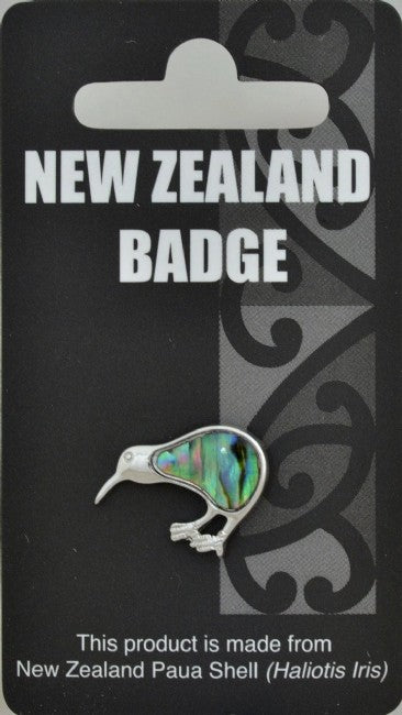 Natural Paua Kiwi Badge - Kiwi Collections