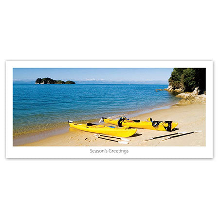 Greeting Card - Kayaking in Abel Tasman - Kiwi Collections