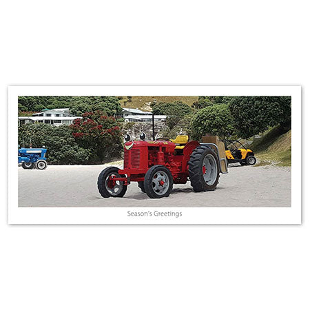 Greeting Card - Coromandel Boat Tractor - Kiwi Collections