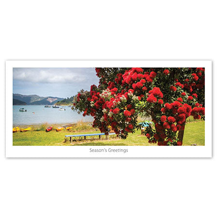 Greeting Card - Hakanaka Bay Summer Landscape - Kiwi Collections