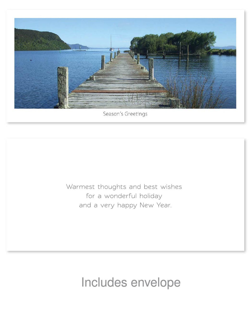 Greeting Card - Taupo Summer Pier - Kiwi Collections