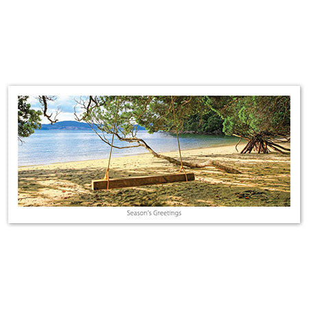 Greeting Card - Swing@Beach - Kiwi Collections