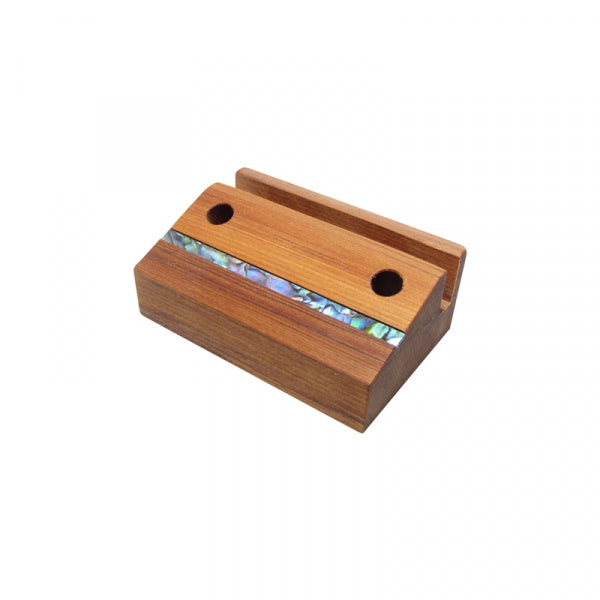 BUSINESS CARD AND PEN HOLDER, RIMU - Kiwi Collections