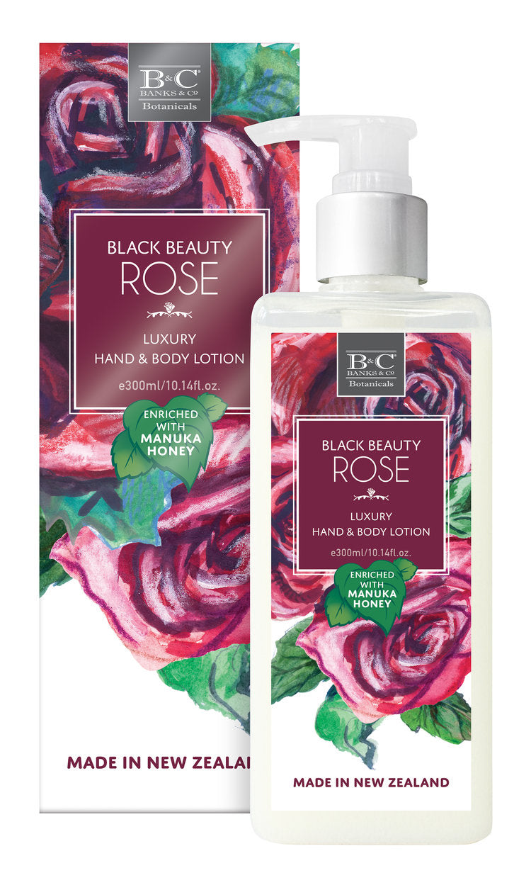 Black Beauty Rose Luxury Lotion - Kiwi Collections