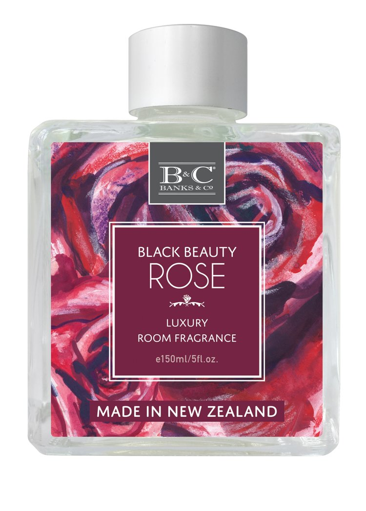 Black Beauty Rose Luxury Room Diffuser - Kiwi Collections