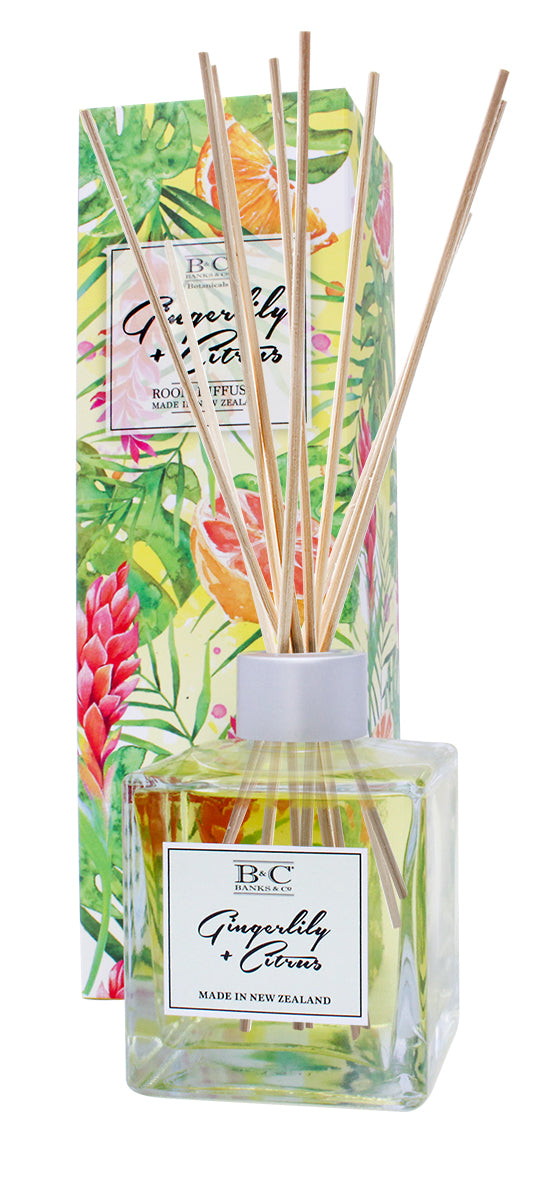 Gingerlily & Citrus Luxury Room Diffuser - Kiwi Collections