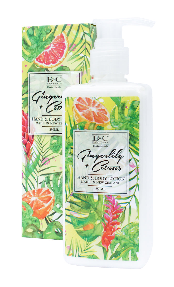 Gingerlily & Citrus Hand & Body Lotion - Kiwi Collections