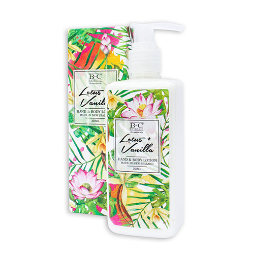 Lotus & Vanilla Hand & Body Lotion - Kiwi Collections