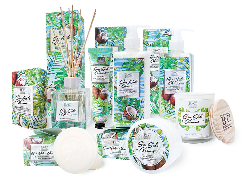 Sea Salt & Coconut Hand & Body Wash - Kiwi Collections