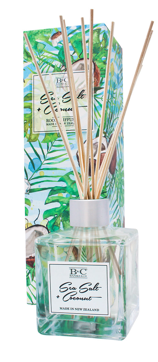 Sea Salt & Coconut Luxury Room Diffuser - Kiwi Collections