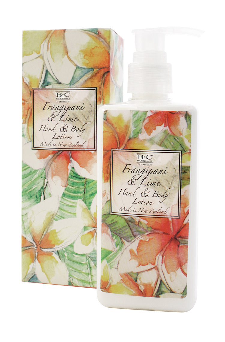 Frangipani & Lime Hand & Body Lotion - Kiwi Collections