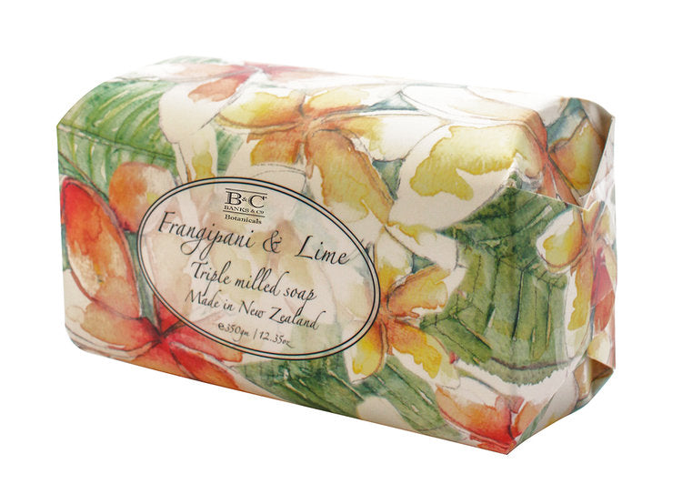 Frangipani & Lime Luxury Oval Soap - Kiwi Collections