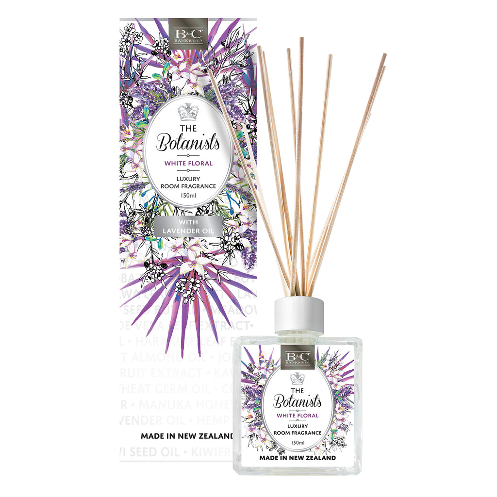 White Floral Luxury Room Diffuser