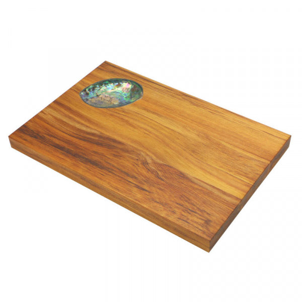 CHEESE BOARD, RIMU - SMALL PAUA SHELL - Kiwi Collections