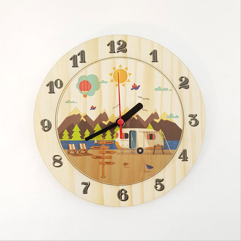 Clock: Kiwi Holiday (Pine) - Clocks