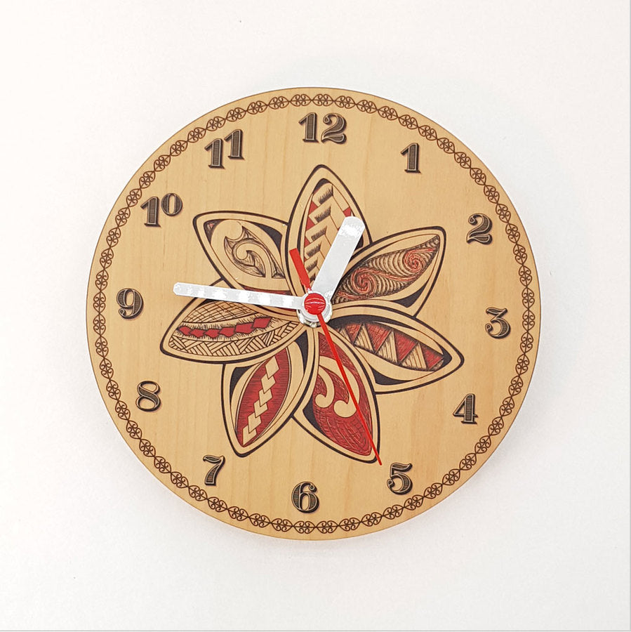 Clock: KWW Flower (Silver Beech) - Clocks