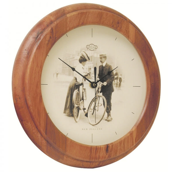 CLOCK, RIMU - BIKE VINTAGE - Kiwi Collections